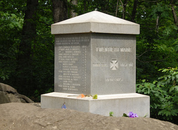 20th Maine monument