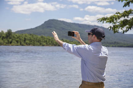 Garry shooting one of his signature social media videos in Chattanooga. Photo by Buddy Secor