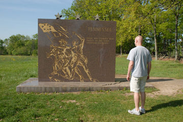 Chris Swartz and TN monument