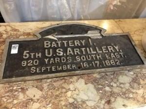 Battery I War Department Sign