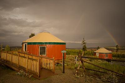 Red Fox yurt at Snow Mountain Ranch