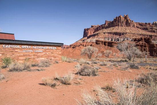 The Castle viewed from the Capitol Reef Visitor Center
