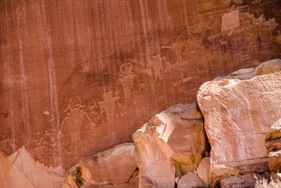 Petroglyphs on Highway 24