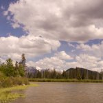 View on Vermillion Lakes Scenic Drive