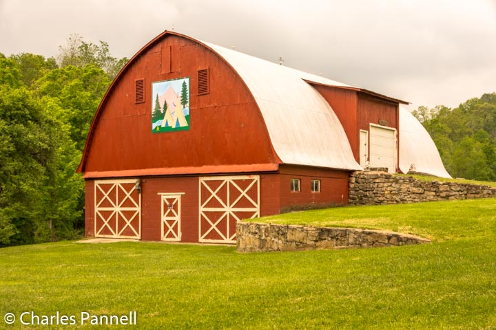 Original Applique quilt barn in Garrett County, Kentucky