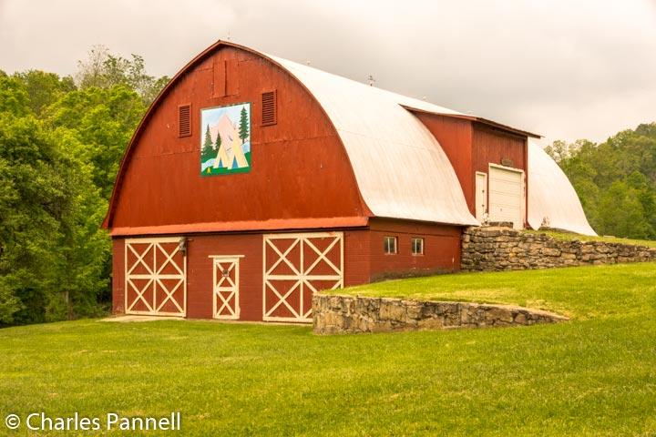 Original Applique quilt barn in Garrett County, Kentucky