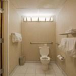 Toilet in room 116 at the Wisp Resort