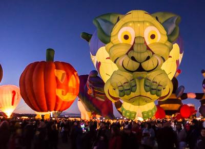 Twilight balloon glow at the Albuquerque Balloon Fiesta