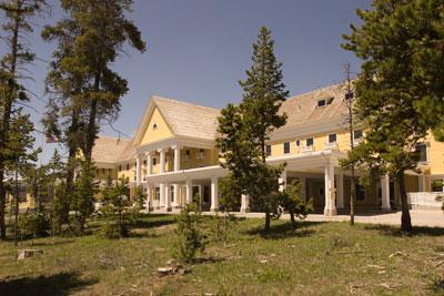 The historic Lake Yellowstone Hotel