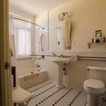 Sink and toilet in room 6439 at El Tovar