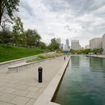 Ramped access to the canal section of the Indianapolis Cultural Trail