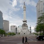 Monument Circle on the Indianapolis Cultural Trail