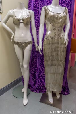 Costumes on display in the Burlesque Museum