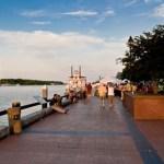 Savanah's historic waterfront on First Saturday