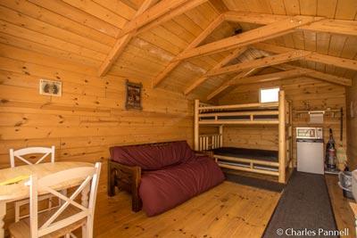 Inside the Falcon's Ledge cabin