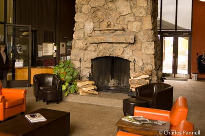 Inside the visitor center at Wasatch Mountain State Park