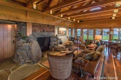 Living room at the Inn at Newport Ranch