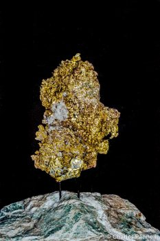 Fourty-four pound Crystalline Gold Leaf on display at Ironstone Vineyards Heritage Museum