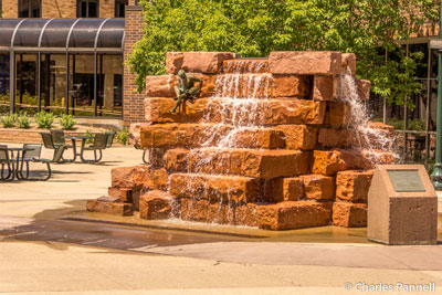 Waterfall on the Downtown Sculpture Walk