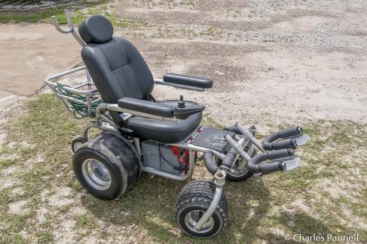 One of Beach Power Rentals beach wheelchairs