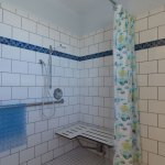 Shower in the Snowy Plover bathroom