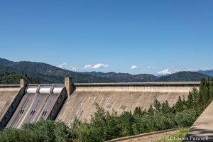 Shasta Dam with Mount Shasta in the background