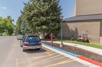 Accessible parking spaces on Shakespeare Lane