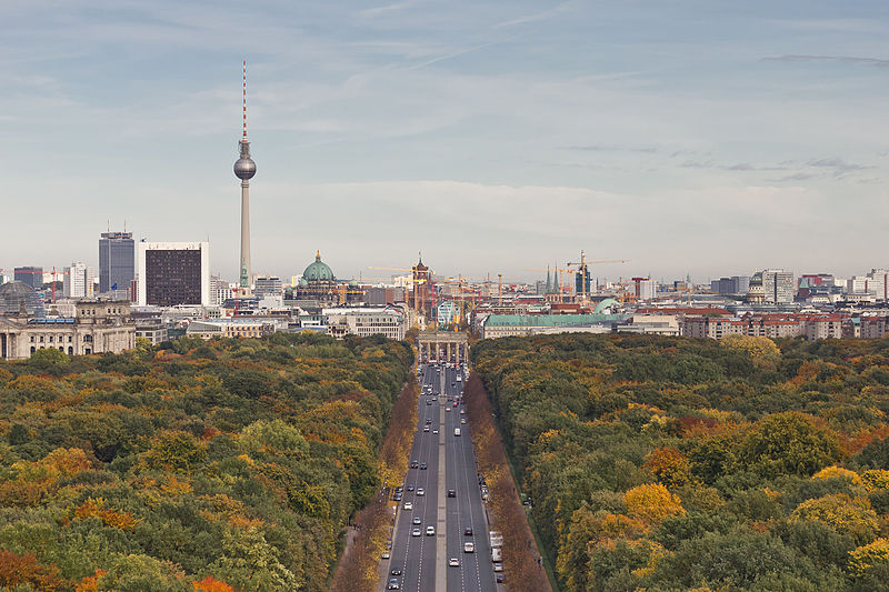 View from the Victory Column towards Mitte, Berlin, Germany