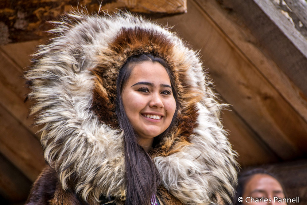 Native costume at the Chena Indian Village