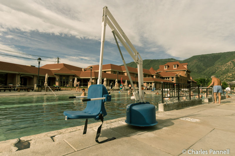 Lift access to the pool at Glenwood Springs