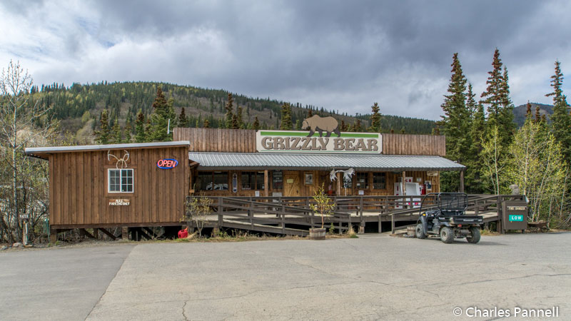 Registration building at Grizzly Bear Lodge