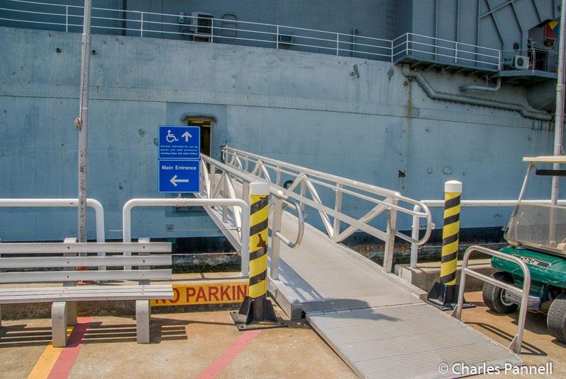 Boarding the USS Yorktown