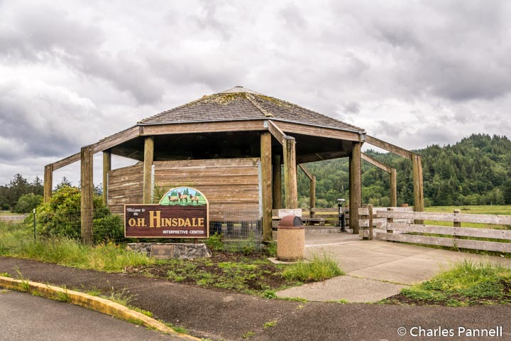 Interpretive Center and viewing shelter at the Dean Creek Elk Viewing Area