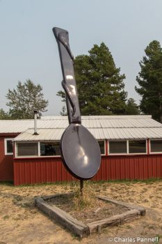 World's Largest Purple Spoon in East Glacier Park Village, Montana