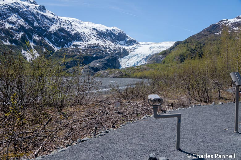 Viewing scope at the Exit Glacier
