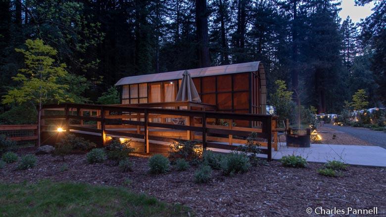 Outside the Redwood Trailer