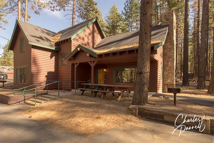 There's nothing more romantic than snuggling up with your sweetie in front of the fire at this spacious Lake Tahoe cabin. And the oversized bathroom features a transfer-type shower and an accessible tub/shower combination. A Wheelchair- Accessible Lake Tahoe Escape