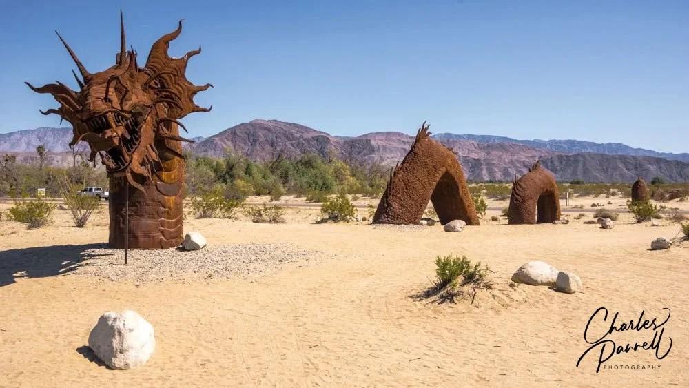 Dragon sculpture by Ricardo Breceda in Borego Springs, California