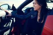 Emerging Magazine - Michelle Rodriguez Speeds to 201 mpn in Jaguar F-Type SVR - Nevda Desert 2016