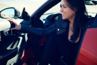 Emerging Magazine - Michelle Rodriguez Speeds to 201 mpn in Jaguar F-Type SVR - Nevda Desert 2016