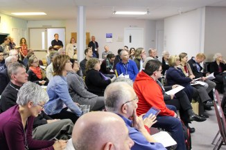 About 70 people attended the workshop in the lower lounge at Bethel Mennonite Church, Winnipeg.