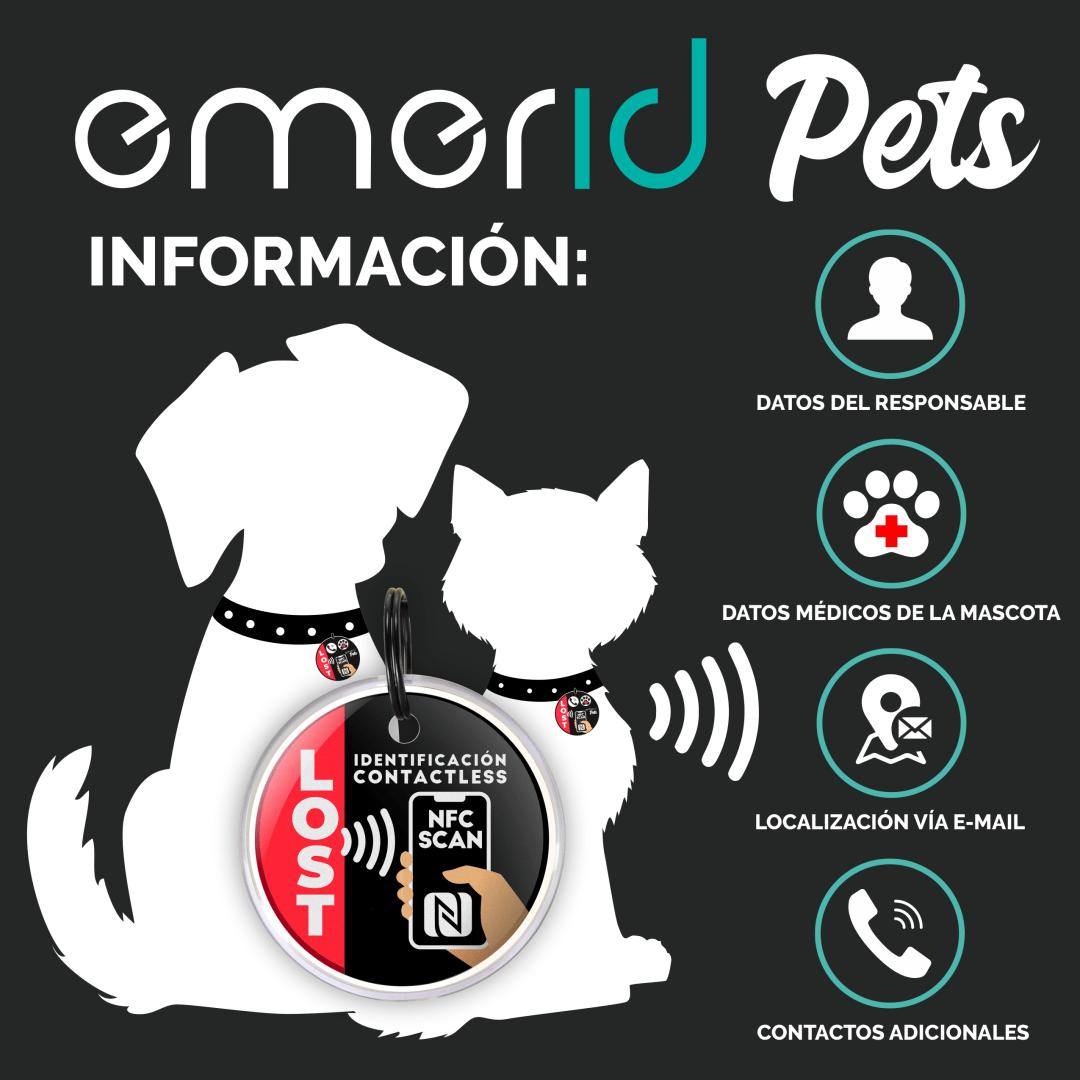 Emerid Pets dispositivo NFC CONTACTLESS