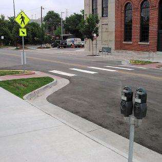 Curb bump-out