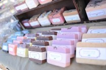 Rachel's handmade soaps at the Orange Thyme booth.