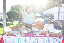 Alie of Gluten Busters shows off their range of tantalizing gluten-free products.