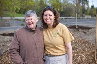 Angel of Spokane Urban Forestry and Nancy MacKerrow of the Susie Forest.