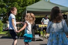 Kids dance to Spokaloo
