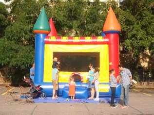 The always popular bouncy castle