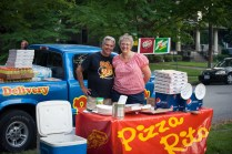 Pizza Rita came out to support this neighborhood event