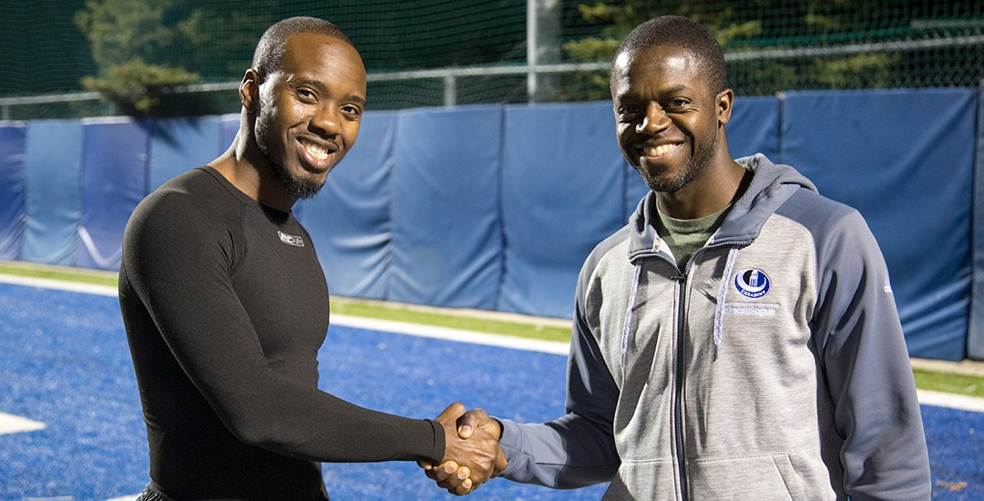 Turnier CrossTraining Exercise Series: Carabins Football workout with Pierre-Mary Toussaint